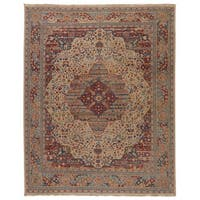 Hand-Knotted Oriental White Area Rug (5' X 8')