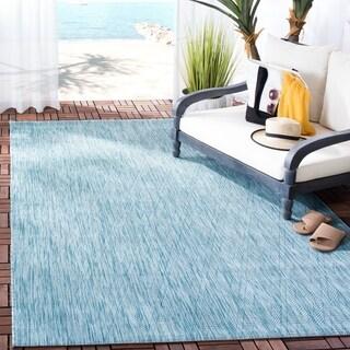 Safavieh Indoor/ Outdoor Courtyard Aqua/ Aqua Rug (2' 7 x 5')