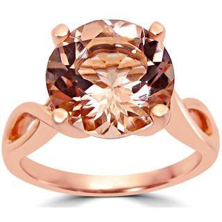 Noori 14k Rose Gold Round-cut Morganite Twist Knot Engagement Ring