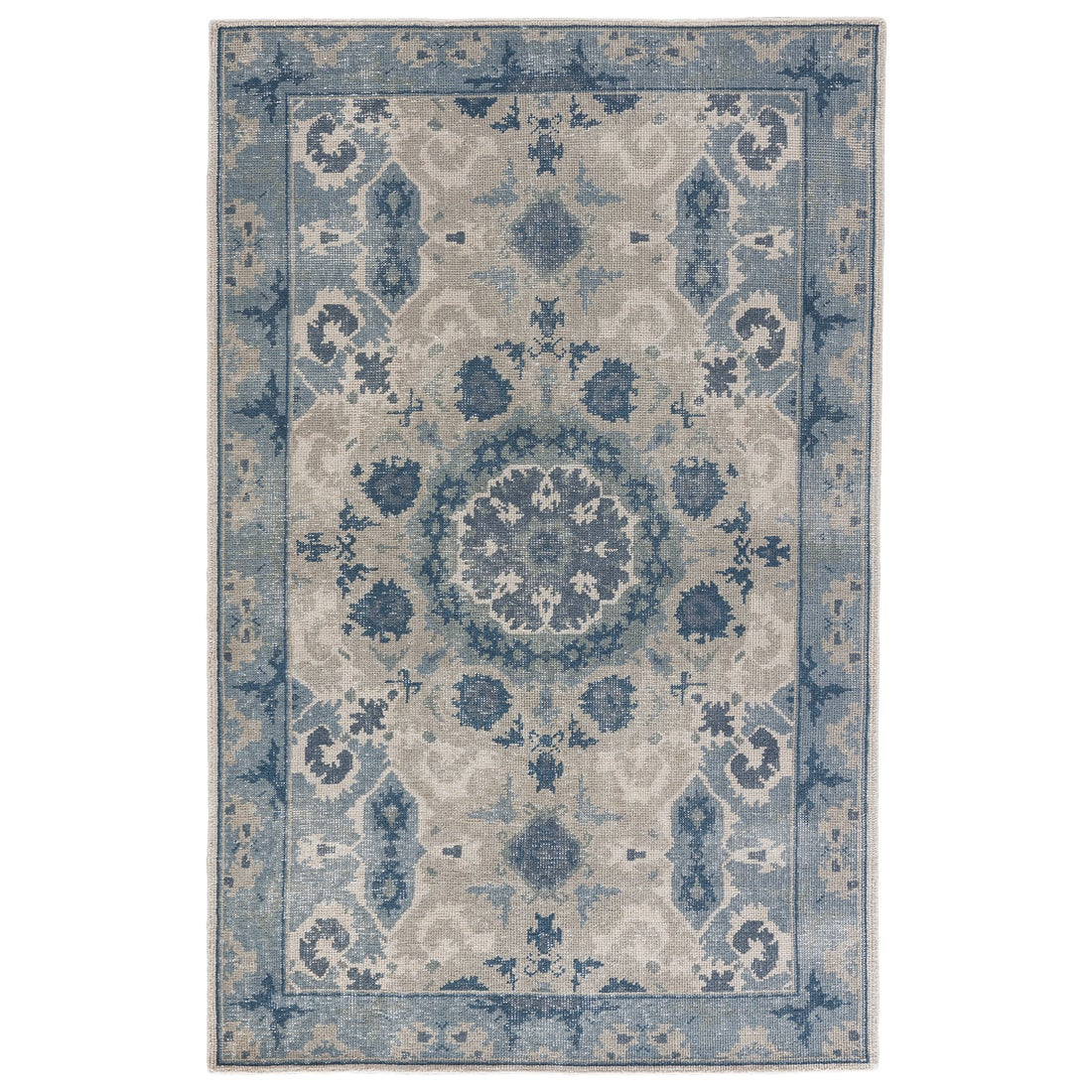Juniper Home Hand-Knotted Oriental Gray/ Silver Area Rug ...
