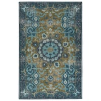 Hand-Knotted Oriental Blue Area Rug (5' X 8')