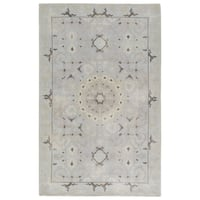 Hand-Knotted Oriental Neutral Area Rug (5' X 8')