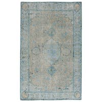 Hand-Knotted Oriental Gray/ Silver Area Rug (5' X 8') - 5' x 8'