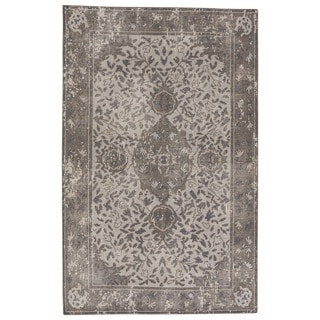 Hand-Knotted Oriental Gray/ Silver Area Rug (5' X 8')