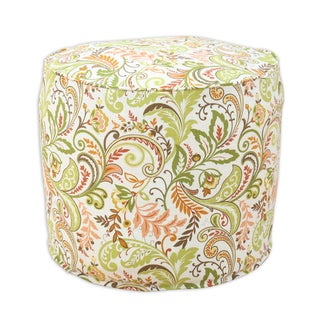 Findlay Apricot 12.5-inch x 12.5-inch Corded Hassock