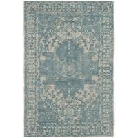 Safavieh Handmade Restoration Vintage Oriental Ivory / Turquoise Wool Rug - 3' x 5'