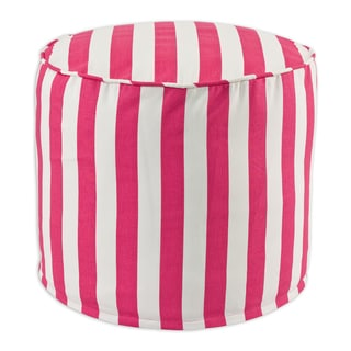 Canopy Candy Pink Cotton 20-inch Round x 17-inch High Beads Hassock