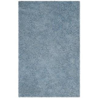 Safavieh Handmade Florence Shag Light Blue Polyester Rug (4' x 6')