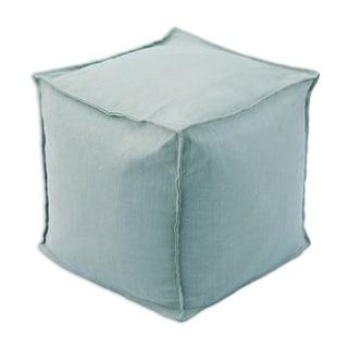 Circa Solid Aqua Marine 12.5-inch Square Footstool