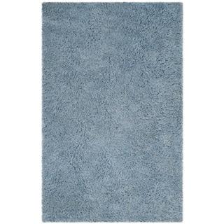Safavieh Handmade Florence Shag Light Blue Polyester Rug (8' x 10')