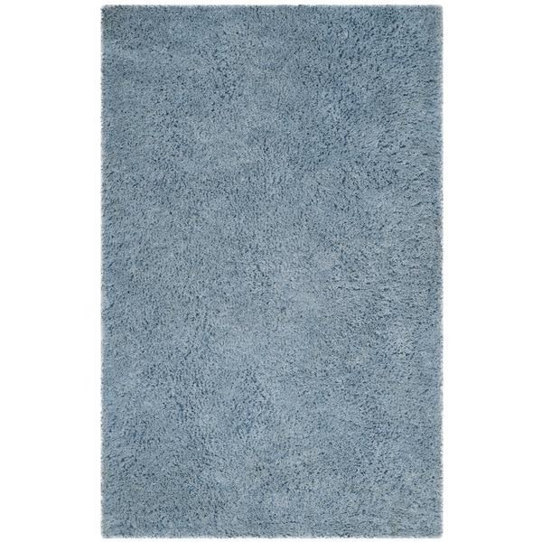 Safavieh Handmade Florence Shag Light Blue Polyester Rug - 8' x 10'