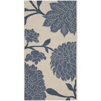 Safavieh Indoor/ Outdoor Courtyard Beige/ Blue Rug - 2' x 3'7