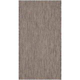 Safavieh Indoor/ Outdoor Courtyard Brown/ Beige Rug (2' x 3' 7)