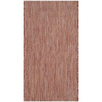 Safavieh Indoor/ Outdoor Courtyard Red/ Beige Rug - 2' x 3'7
