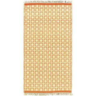eCarpetGallery Brown/Dark Copper Cotton/Wool Kilim Hand-woven Natural Plush Rug (2'0 x 3'7)