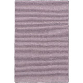 eCarpetGallery Pink and Purple Natural Plush Hand-woven Wool Kilim (5'3 x 8'0)