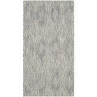 Safavieh Indoor/ Outdoor Courtyard Grey/ Grey Rug (2' x 3' 7)