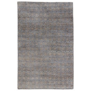 Naturals Tribal Pattern Blue/ Grey Hemp Area Rug (8' x 11')