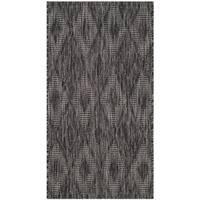 Safavieh Indoor/ Outdoor Courtyard Black/ Black Rug (2' x 3' 7)