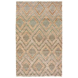 Naturals Tribal Pattern Neutral/ Brown Hemp Area Rug (8' x 11')