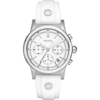 DKNY Women's NY8170 Chronograph White Silicone Watch