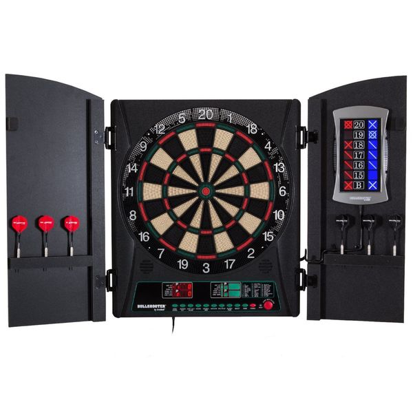 Arachnid Bullshooter E-Bristle Cricketmaxx 1.0 Dartboard Cabinet Set