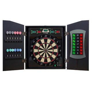 Arachnid CMX5000 Bull Shooter E-Bristle Cricketmaxx 5.0 Dartboard Cabinet Set