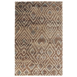 Hand-Knotted Tribal Neutral Area Rug (8' X 11')