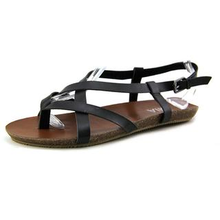 Mia Women's Wildcard Black Synthetic Sandals