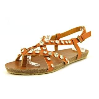 Mia Women's Hero Tan Faux Leather Sandals