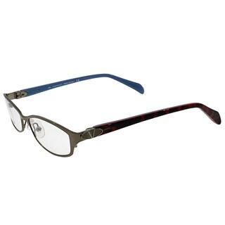 Valentino Women's VL 5591 NJS Sliver Metal Rectangular Eyeglasses