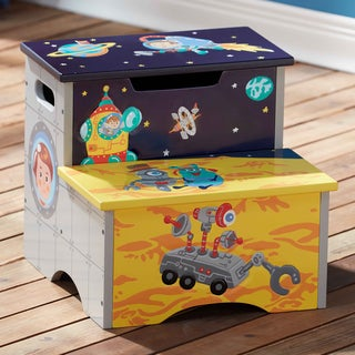 Fantasy Fields Outer Space Multicolor Wood Step Stool