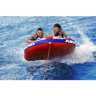 Airhead Shockwave 2 Nylon Inflatable Towable Double Rider