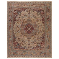Hand-Knotted Oriental White Area Rug (9' X 12') - 9' x 12'
