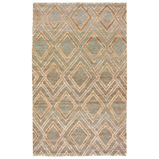 Naturals Tribal Pattern Neutral/ Brown Hemp Area Rug (5' x 8')