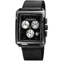 Akribos XXIV Men's Quartz Chronograph Date Black Bracelet Watch