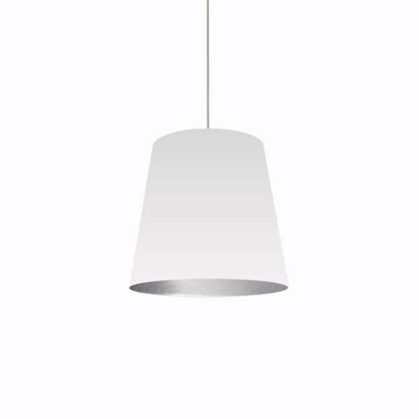 Dainolite 1-light White on Silver Medium Drum 20-inch x 16-inch x 20-inch Pendant