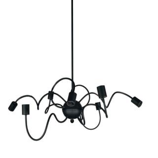 Dainolite Matte Black Steel 12-inch 8-light Oval Pendant
