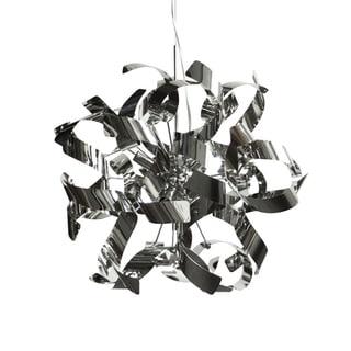 Dainolite Stainless Steel Polished Chrome Ribbons 7-light Pendant