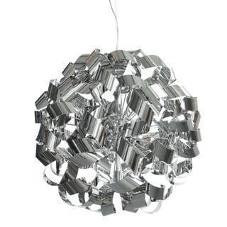 Dainolite Polished Stainless Steel Ribbons 9-light Pendant