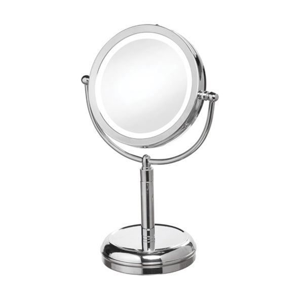 Dainolite LED Table Polished Chrome LED Lighted Magnifier