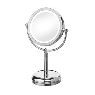 Dainolite LED Table Polished Chrome LED Lighted Magnifier