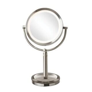 Dainolite LED Table Satin Chrome LED Lighted Magnifier