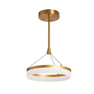 Dainolite 32W LED Vintage Bronze Frosted White Circular Pendant