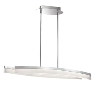 Dainolite Polished Chrome 39-watt LED Horizontal Pendant