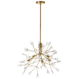 Dainolite Vintage Bronze Frosted Glass 6-light Chandelier