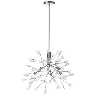Dainolite Satin Chrome With Frosted Glass 6-light Chandelier