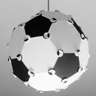 Dainolite White/Black Steel/Glass 1-light Soccer Ball Pendant