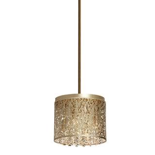 Dainolite Floral Pattern Crystal Palladium Gold 4-light Chandelier