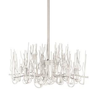 Dainolite White Steel 8-light Twig Chandelier